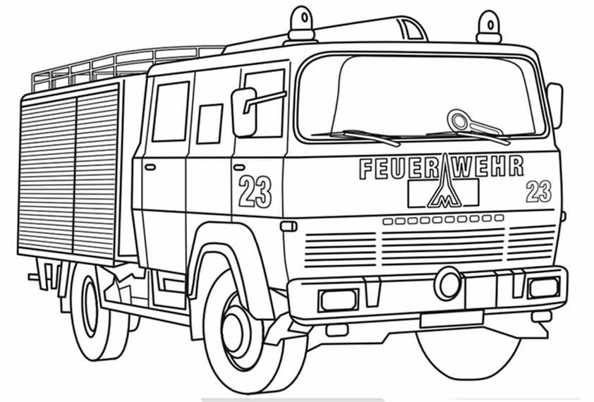 Ausmalbilder Feuerwehrauto  feuerwehrauto zum ausmalen – Ausmalbilder für kinder