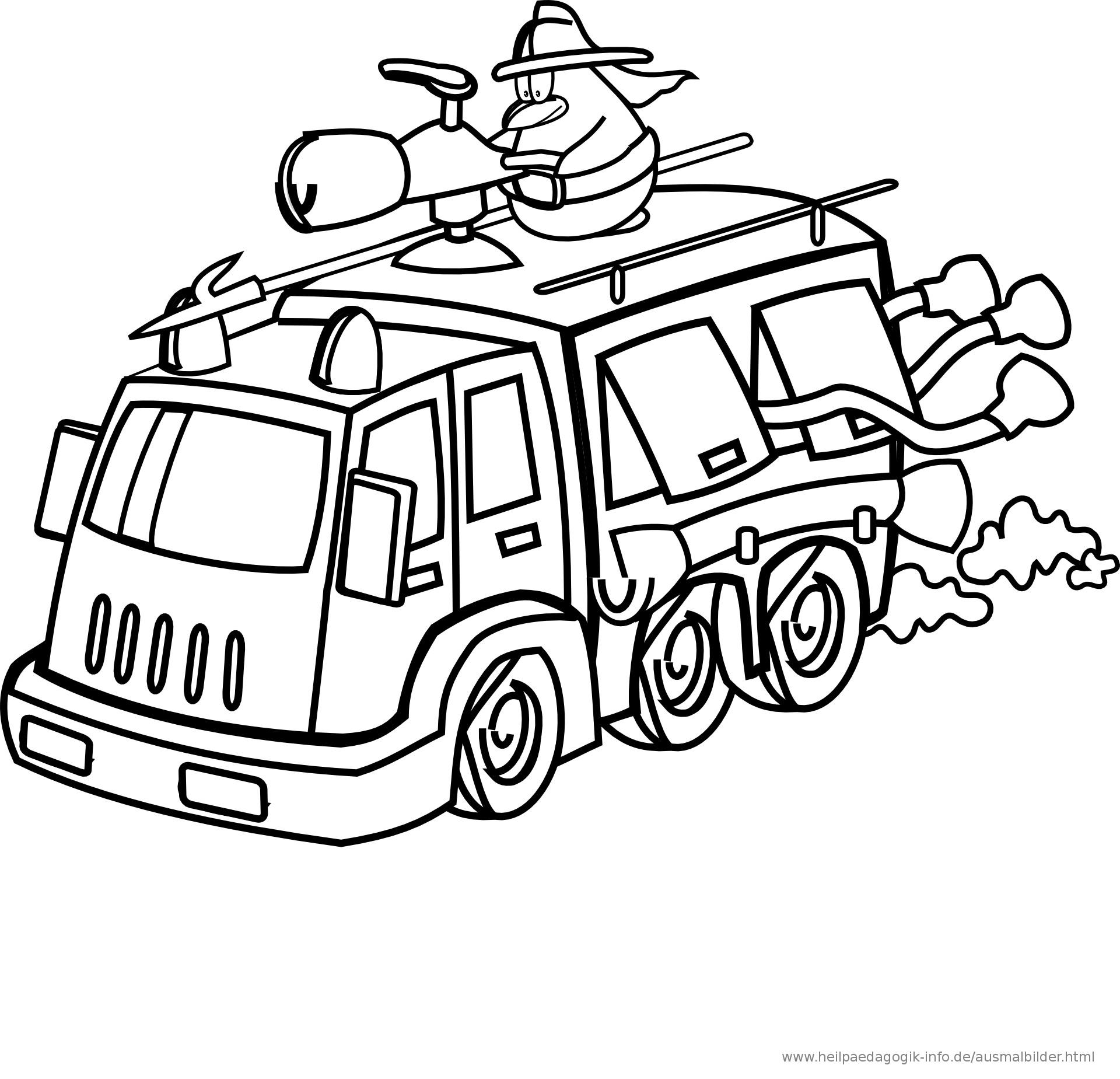 Ausmalbilder Feuerwehrauto  Ausmalbilder Feuerwehr Krankenwagen Polizei