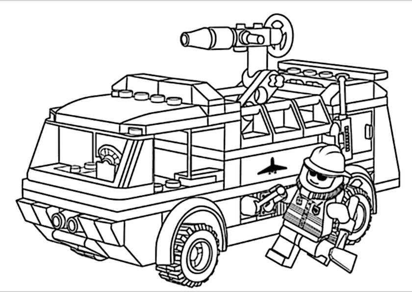 Ausmalbilder Feuerwehrauto  Ausmalbilder für Kinder Malvorlagen und malbuch