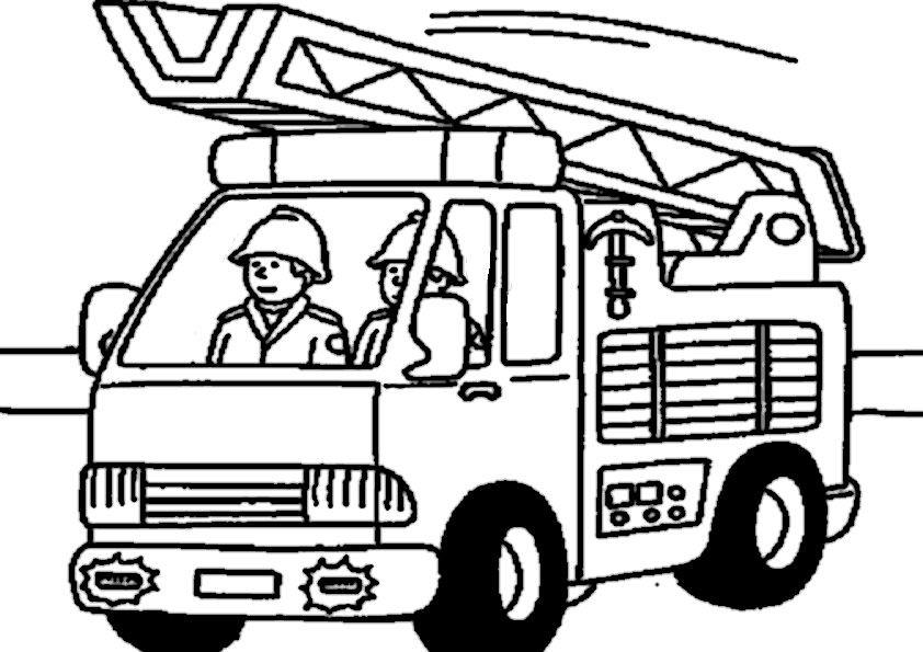 Ausmalbilder Feuerwehrauto  feuerwehr ausmalbilder 05
