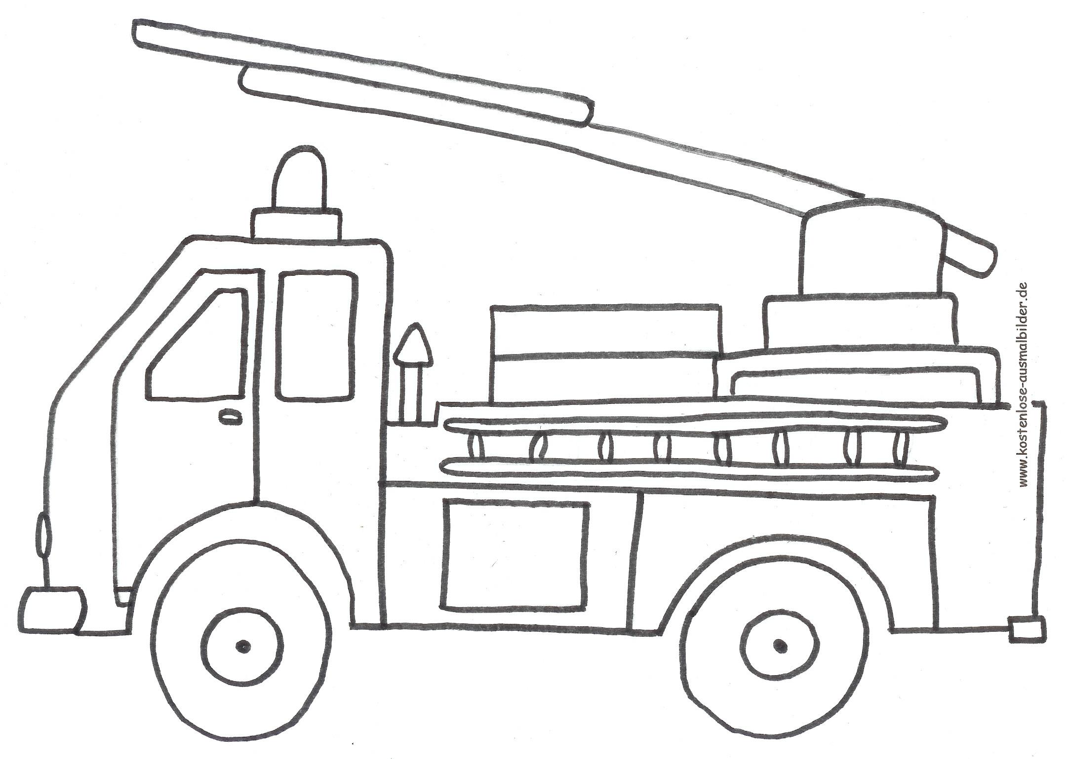 Ausmalbilder Feuerwehrauto  Ausmalbilder Transportmittel