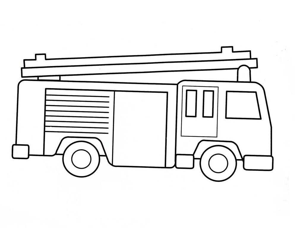 Ausmalbilder Feuerwehrauto  Malvorlagen fur kinder Ausmalbilder Feuerwehrauto