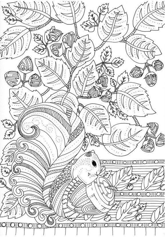 Ausmalbilder Für Erwachsene Herbst  Pin von Babylou auf Colouring for Grown Ups