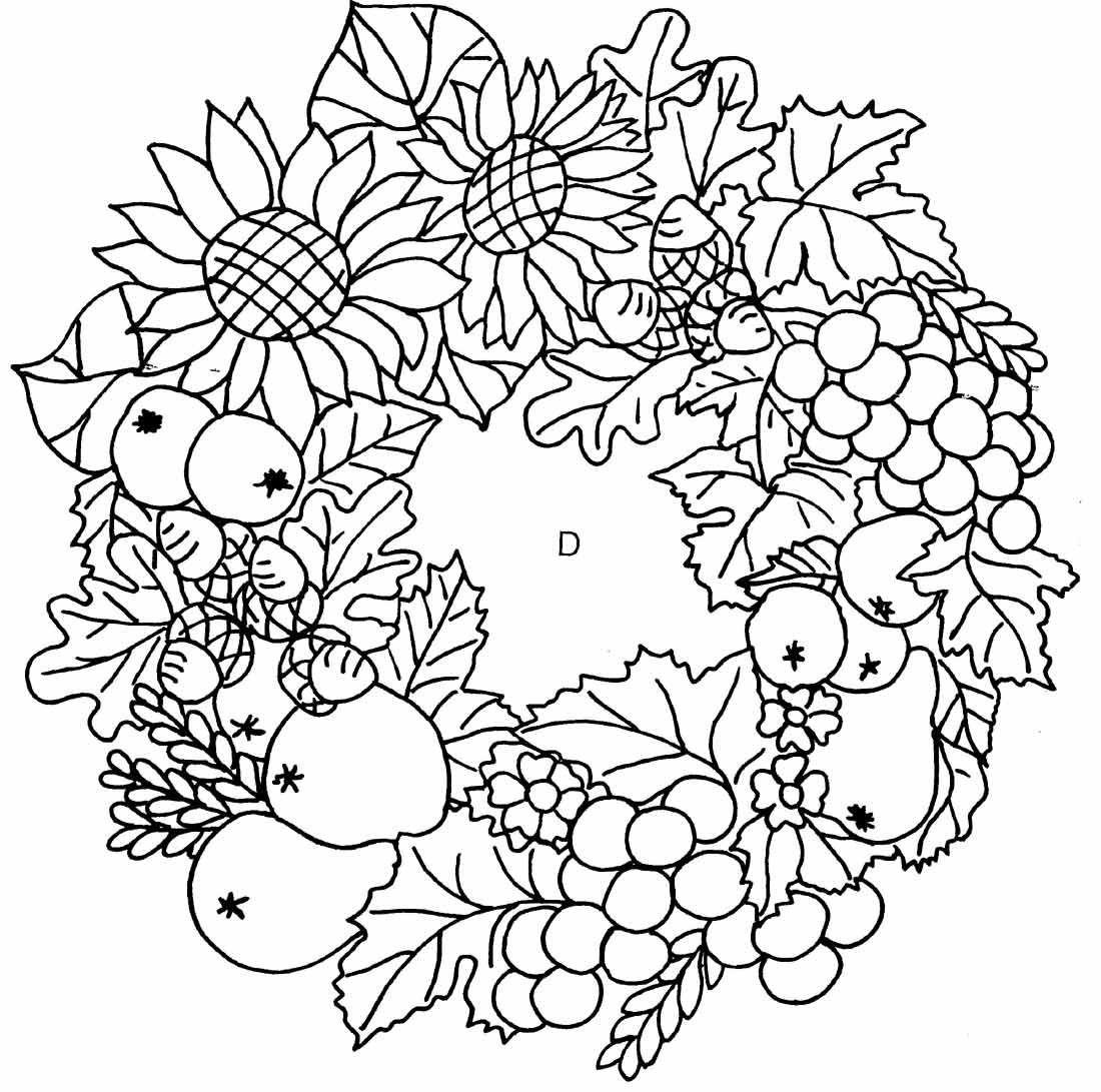 Ausmalbilder Für Erwachsene Herbst  Herbst 03 ausmalen gratis