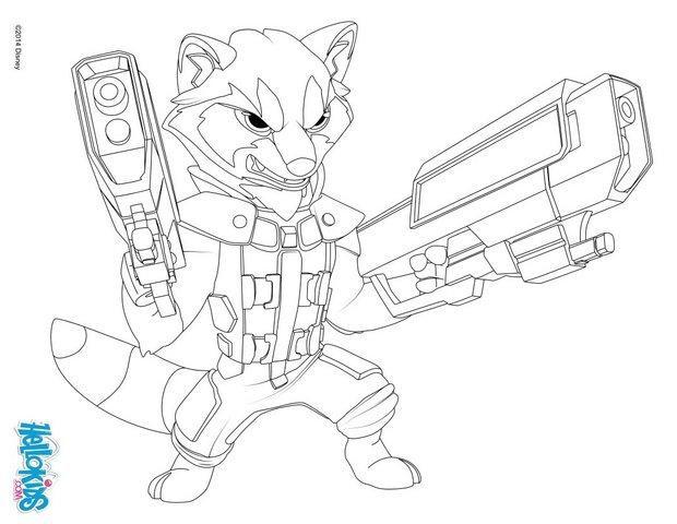 Ausmalbilder Guardians Of The Galaxy  Rocket raccoon guardians of the galaxy zum ausmalen de