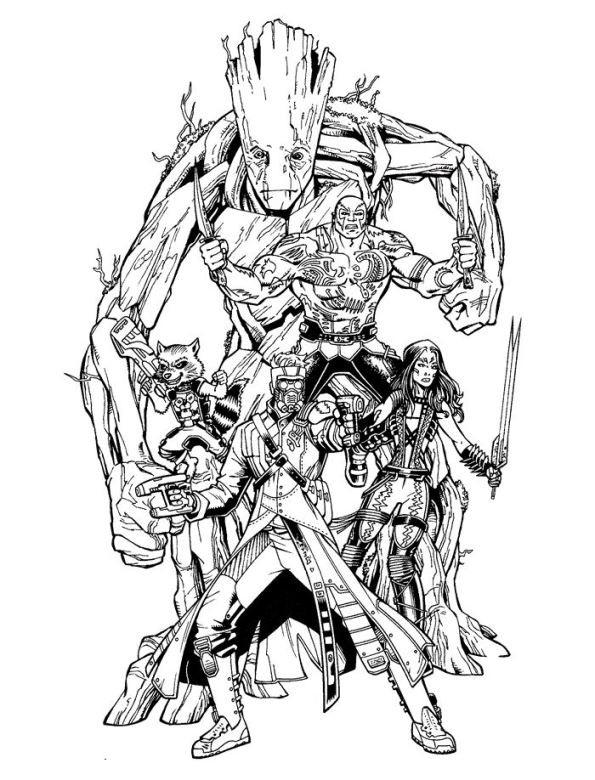 Ausmalbilder Guardians Of The Galaxy  Kids n fun