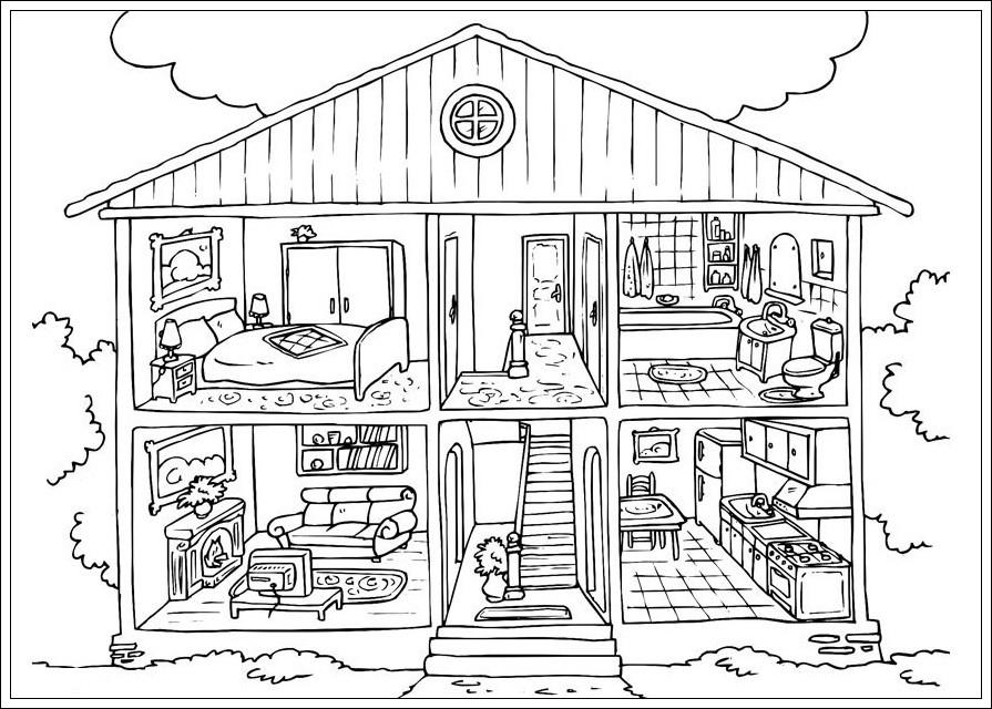 20 besten ideen ausmalbilder häuser - beste wohnkultur