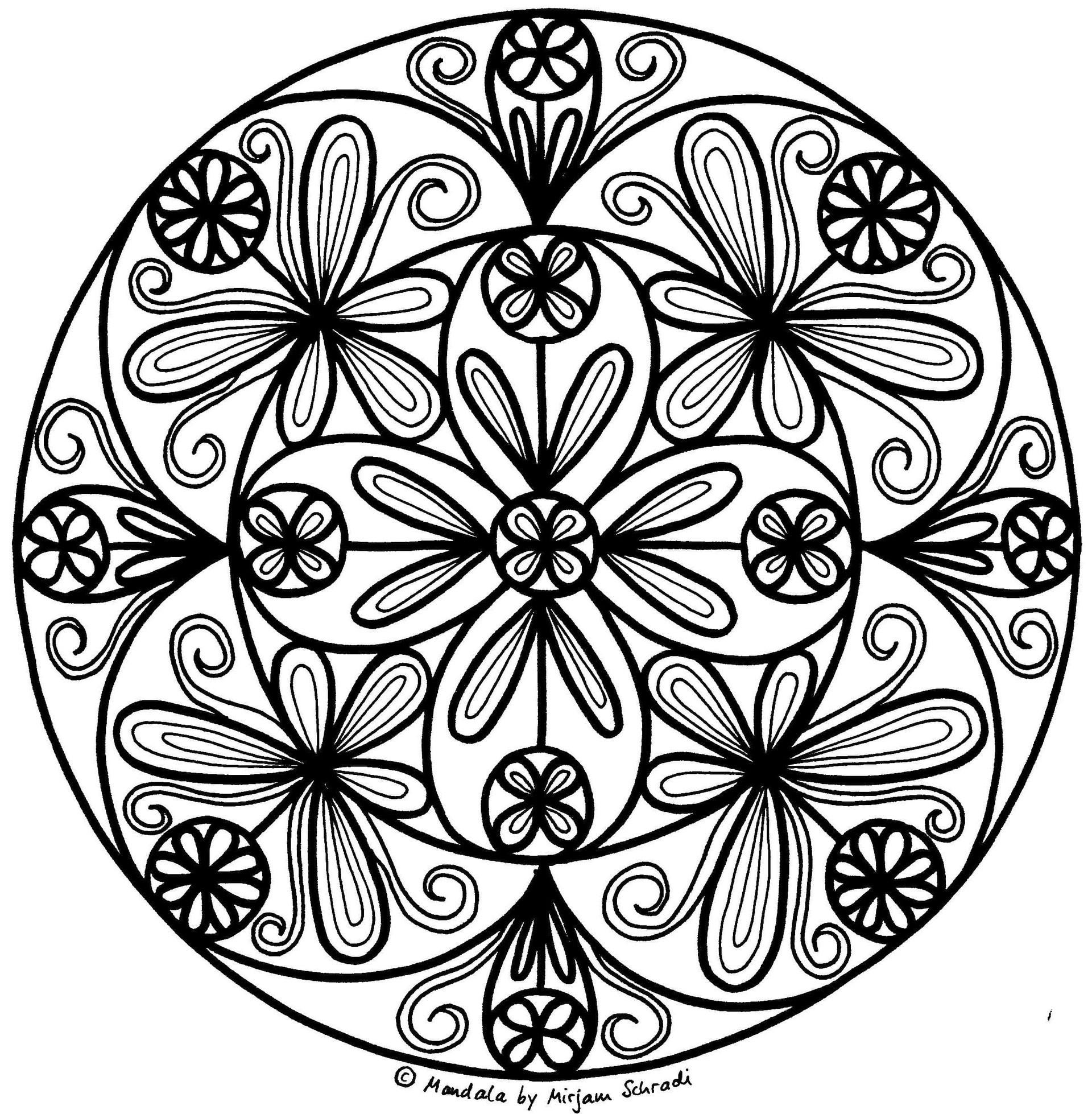 top 20 ausmalbilder mandala blumen - beste wohnkultur