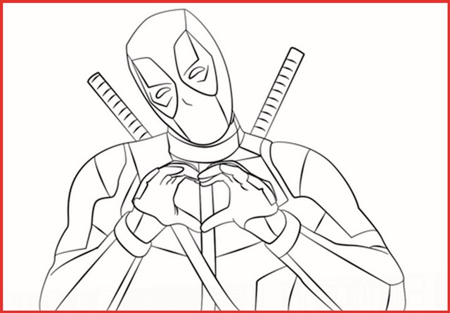 Ausmalbilder Marvel  Marvel Deadpool Ausmalbilder Gratis Rooms Project