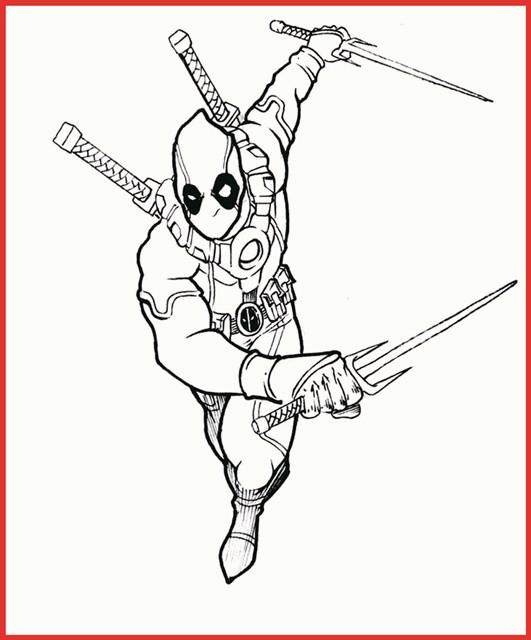 Ausmalbilder Marvel  Marvel Deadpool Ausmalbilder Zum Ausmalen Rooms Project