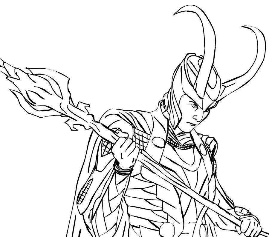Ausmalbilder Marvel  Ausmalbilder Ausmalbilder Loki zum ausdrucken kostenlos