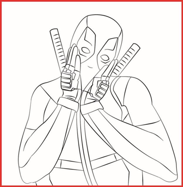 Ausmalbilder Marvel  Marvel Deadpool Ausmalbilder Zum Ausdrucken Rooms