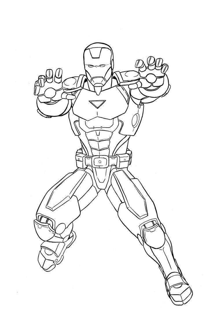 Ausmalbilder Marvel  Marvel Iron Man Coloring Pages