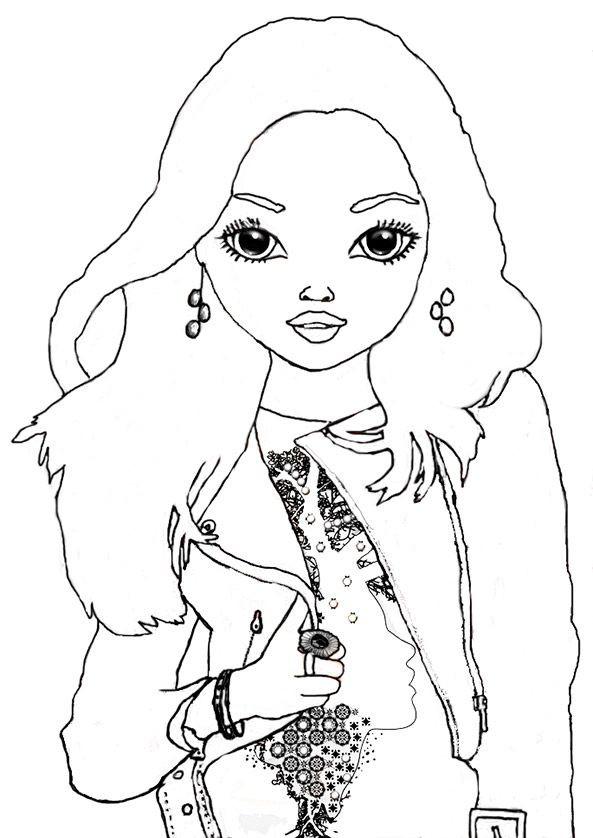 Ausmalbilder Model  ausmalbilder Topmodel Christy