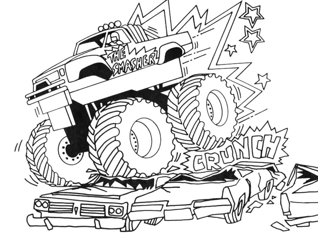 Ausmalbilder Monster Truck  Monster truck malvorlagen kostenlos zum ausdrucken