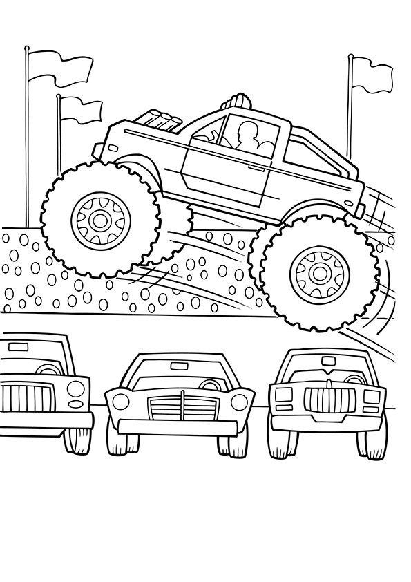 Ausmalbilder Monster Truck  ausmalbilder monster truck 9