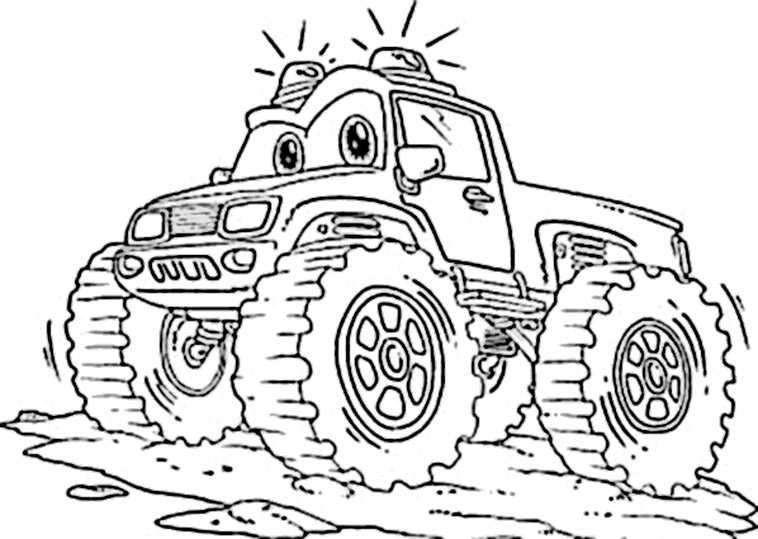 Ausmalbilder Monster Truck  Ausmalbilder kostenlos Monster Truck 8