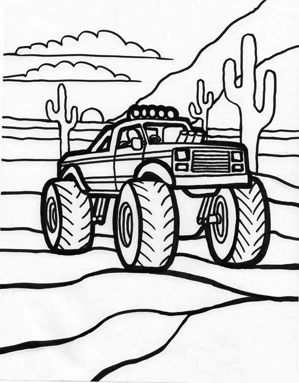 Ausmalbilder Monster Truck  KonaBeun zum ausdrucken ausmalbilder monster truck