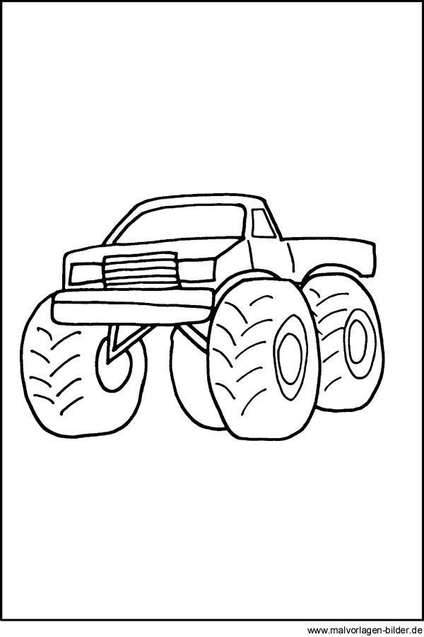 Ausmalbilder Monster Truck  Malvorlagen Monster Truck Gratis ausmalbilder