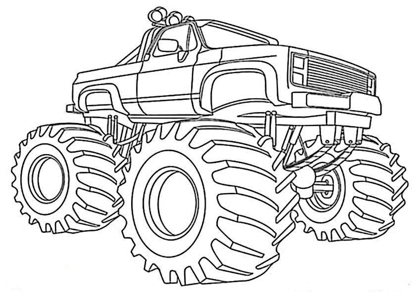 Ausmalbilder Monster Truck  monster truck ausmalbilder zum ausdrucken