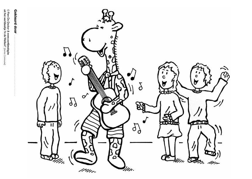 Ausmalbilder Musik  Malvorlage Juul und seine Freunde machen Musik