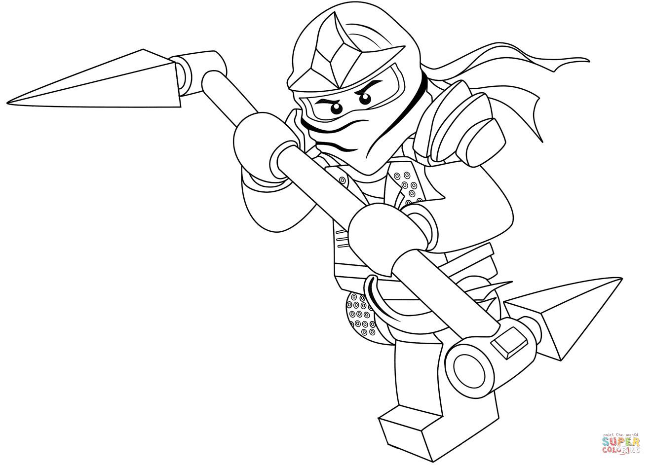 Ausmalbilder Ninjago Lloyd  Ninjago Lloyd coloring page