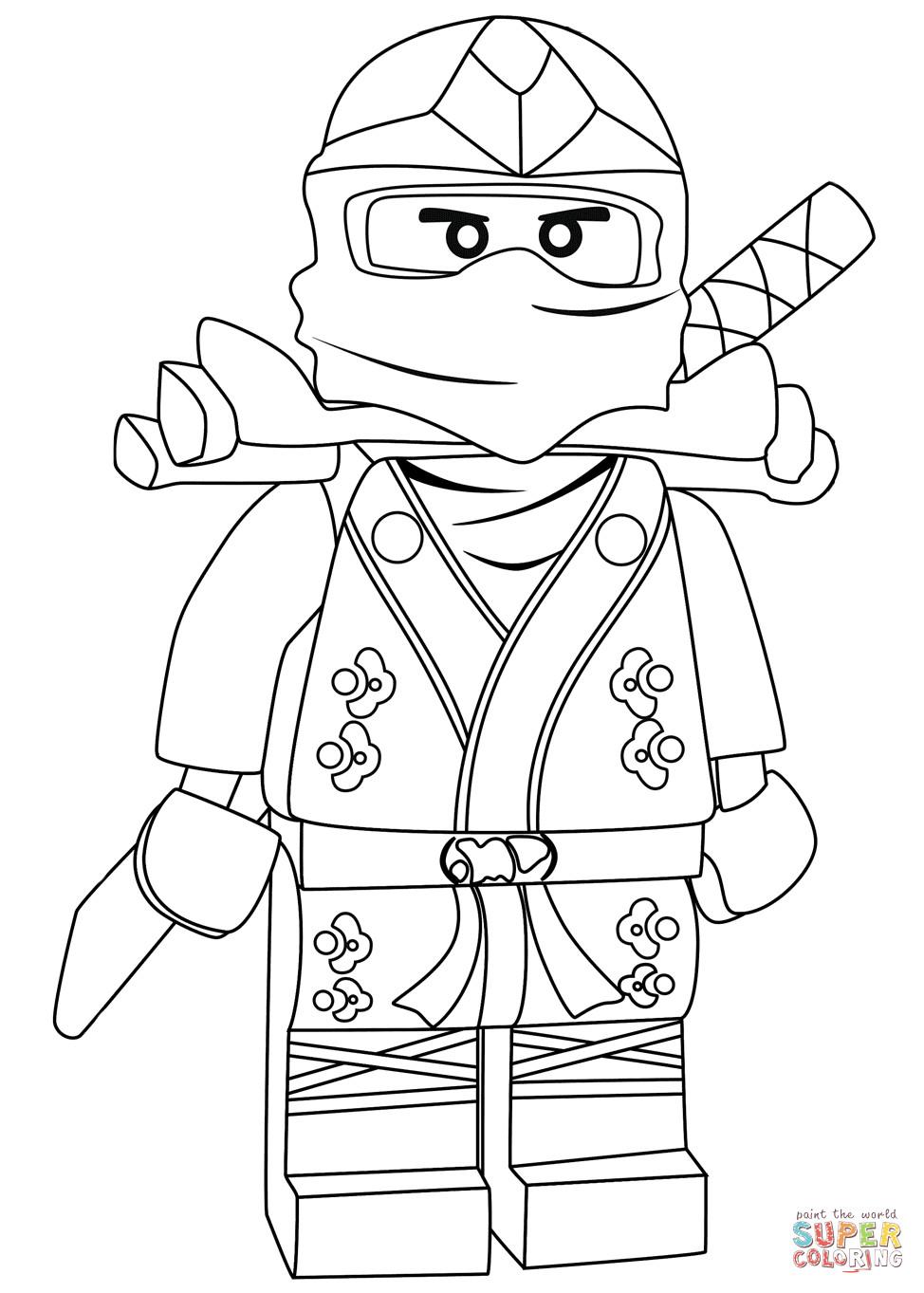 Ausmalbilder Ninjago Lloyd  Ninjago Lloyd Green Ninja ZX coloring page