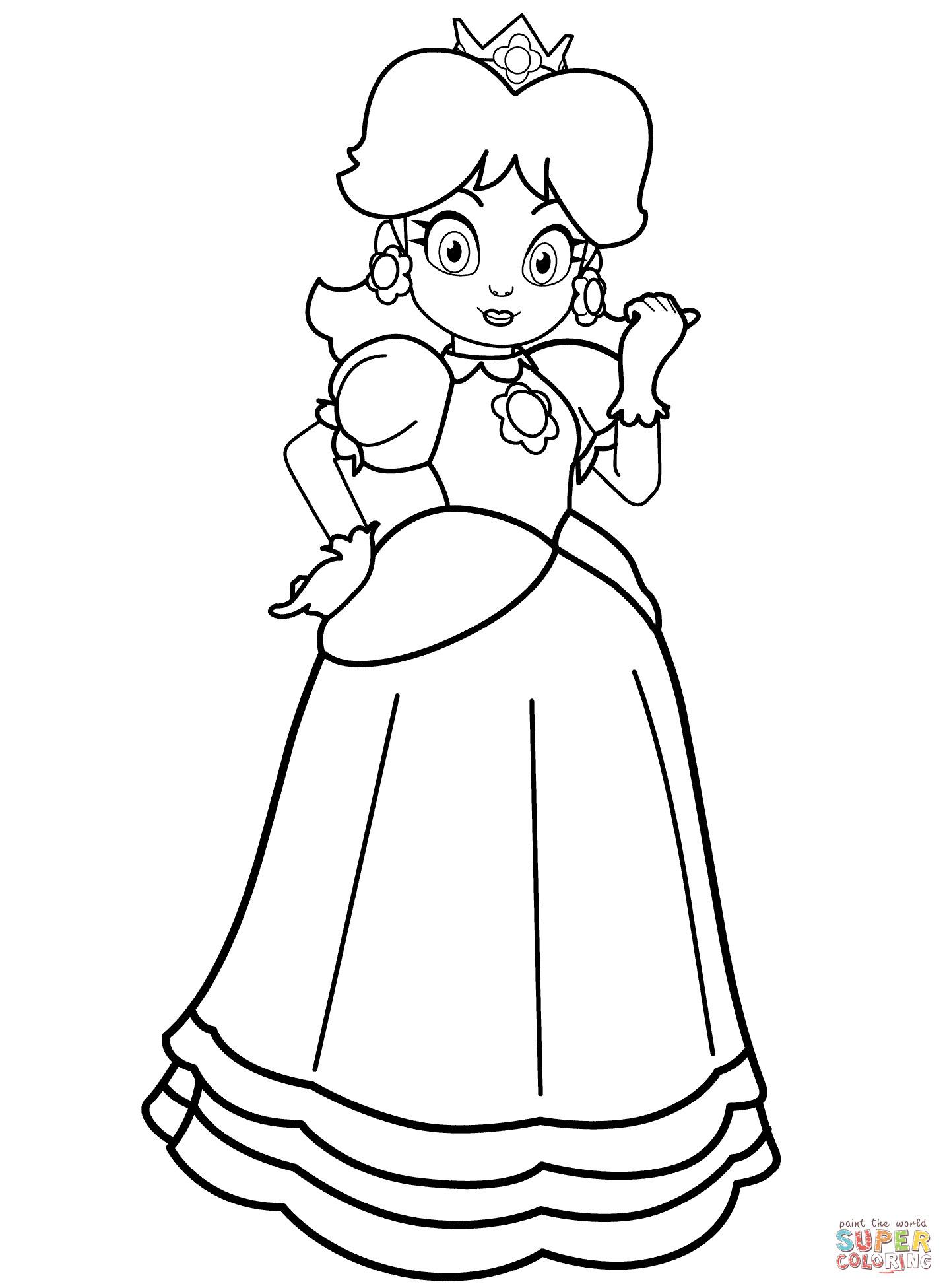 Ausmalbilder Peach  Coloriage Princesse Daisy