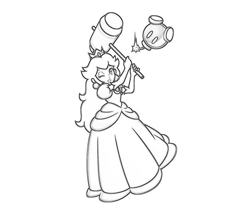 Ausmalbilder Peach  Coloring Pages Princess Peach And Daisy Coloring Home