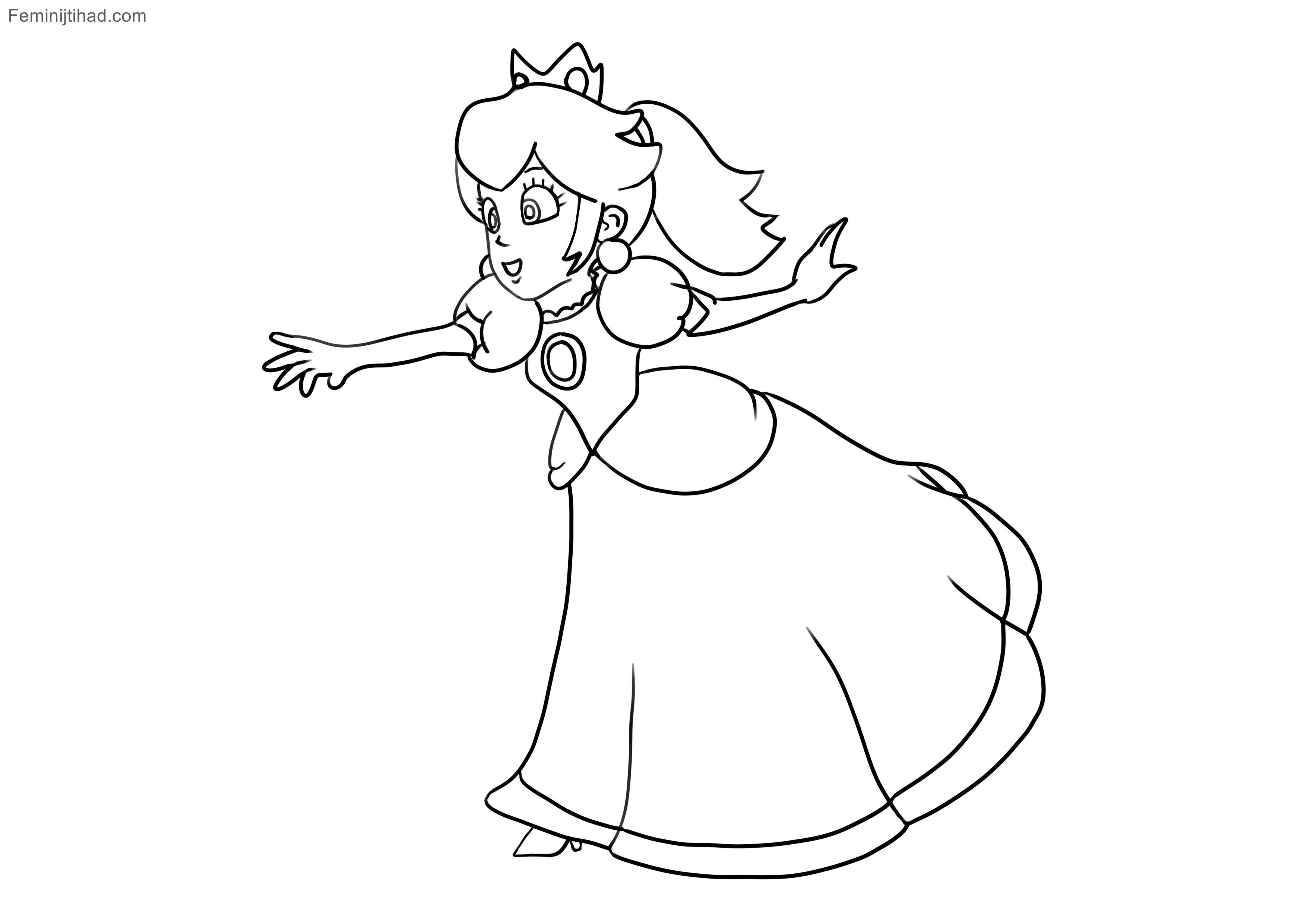 Ausmalbilder Peach  Super Mario Ausmalen Neu 37 Super Mario Kart Ausmalbilder