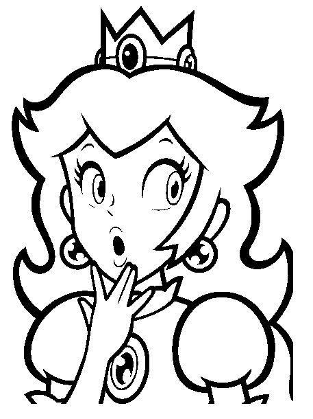 Ausmalbilder Peach  Imágenes de princesas para colorear en blanco y negro
