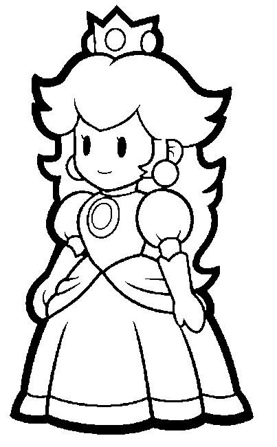 Ausmalbilder Peach  Mario Coloring Pages Bestofcoloring