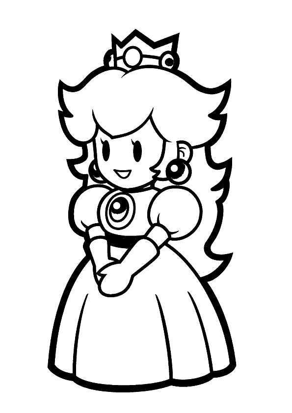 Ausmalbilder Peach  Ausmalbilder Kostenlos Prinzessin 10