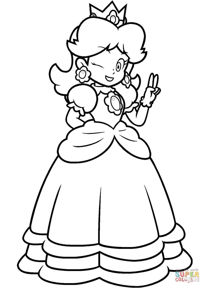 Ausmalbilder Peach  45 Super Mario Ausmalbilder Peach
