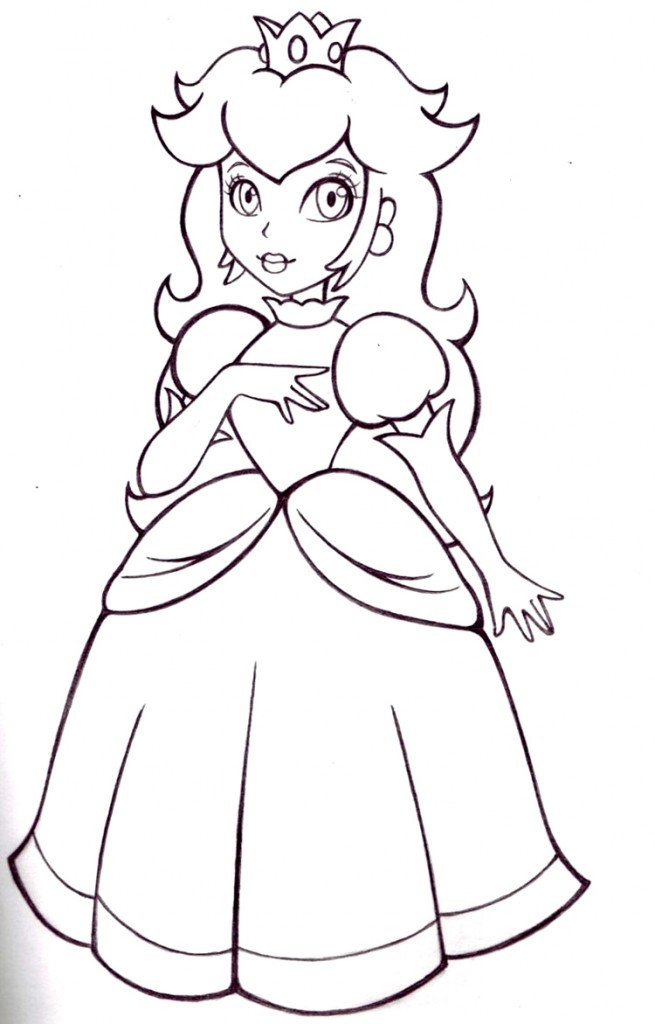 Ausmalbilder Peach  Free Princess Peach Coloring Pages For Kids