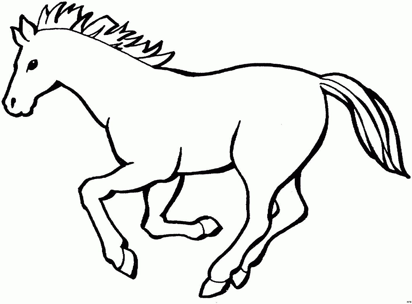 Ausmalbilder Pferd  Ausmalbilder Pferde Kostenlos Ausdrucken