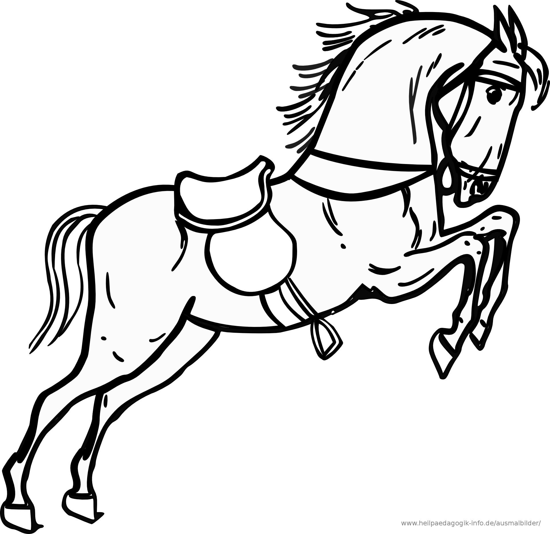 Ausmalbilder Pferd  AUSMALBILDER PFERDE 02 Pferde