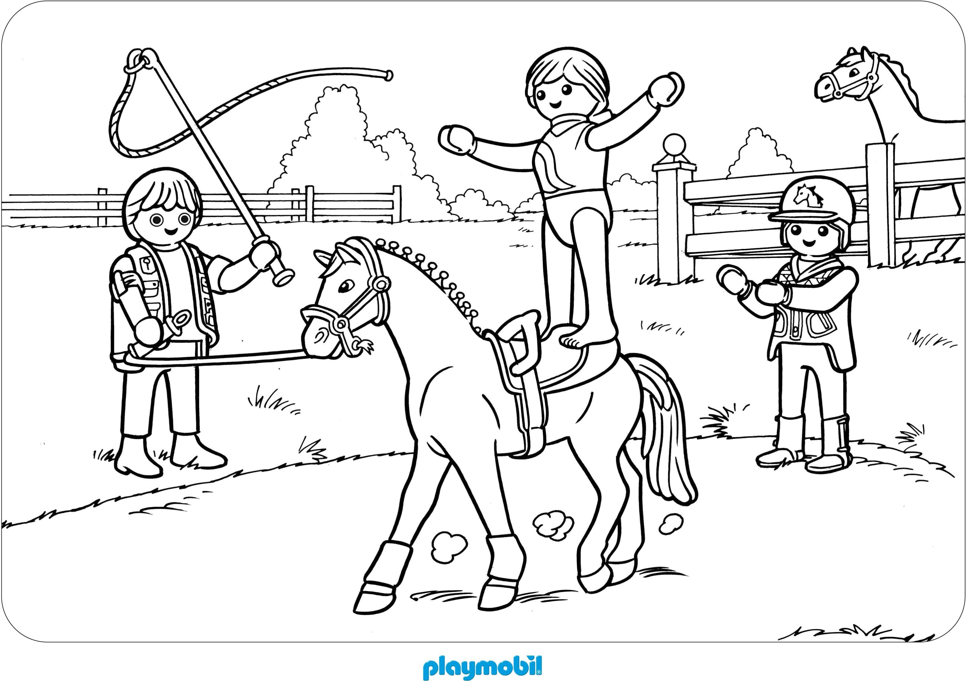 Ausmalbilder Pferd  Playmobil Ausmalbilder Pferde Lego