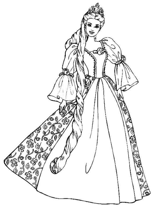 Ausmalbilder Prinzessin Kostenlos  Ausmalbilder Kostenlos Prinzessin 1