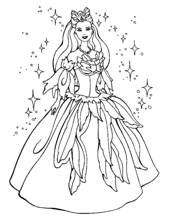 Ausmalbilder Prinzessin Kostenlos  Prinzessin malvorlagen kostenlos zum ausdrucken
