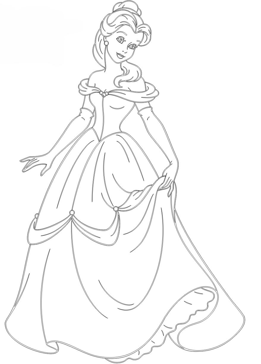 Ausmalbilder Prinzessin Kostenlos  AUSMALBILDER PRINZESSIN kleid