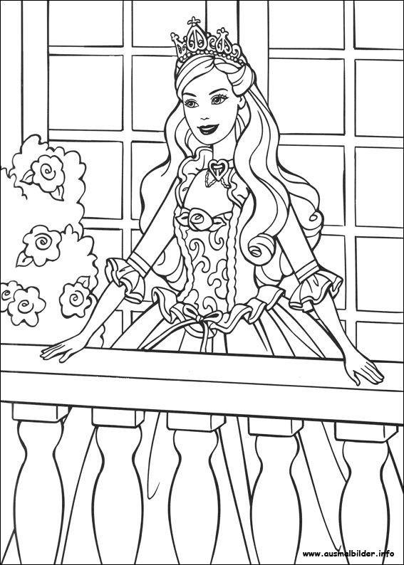 Ausmalbilder Prinzessin Kostenlos  ausmalbilder prinzessin barbie 778 Malvorlage Alle