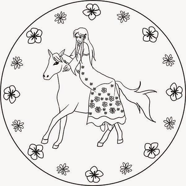 Ausmalbilder Prinzessin Kostenlos  Ausmalbilder zum Ausdrucken Ausmalbilder Mandalas Prinzessin