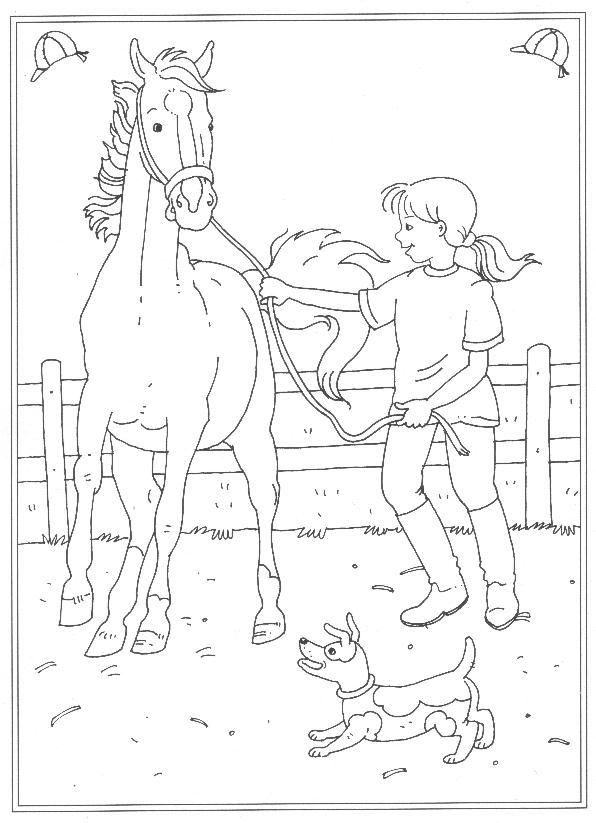 Ausmalbilder Reiterhof  24 Kleurplaten van Op de manege op Kids n Fun Op Kids