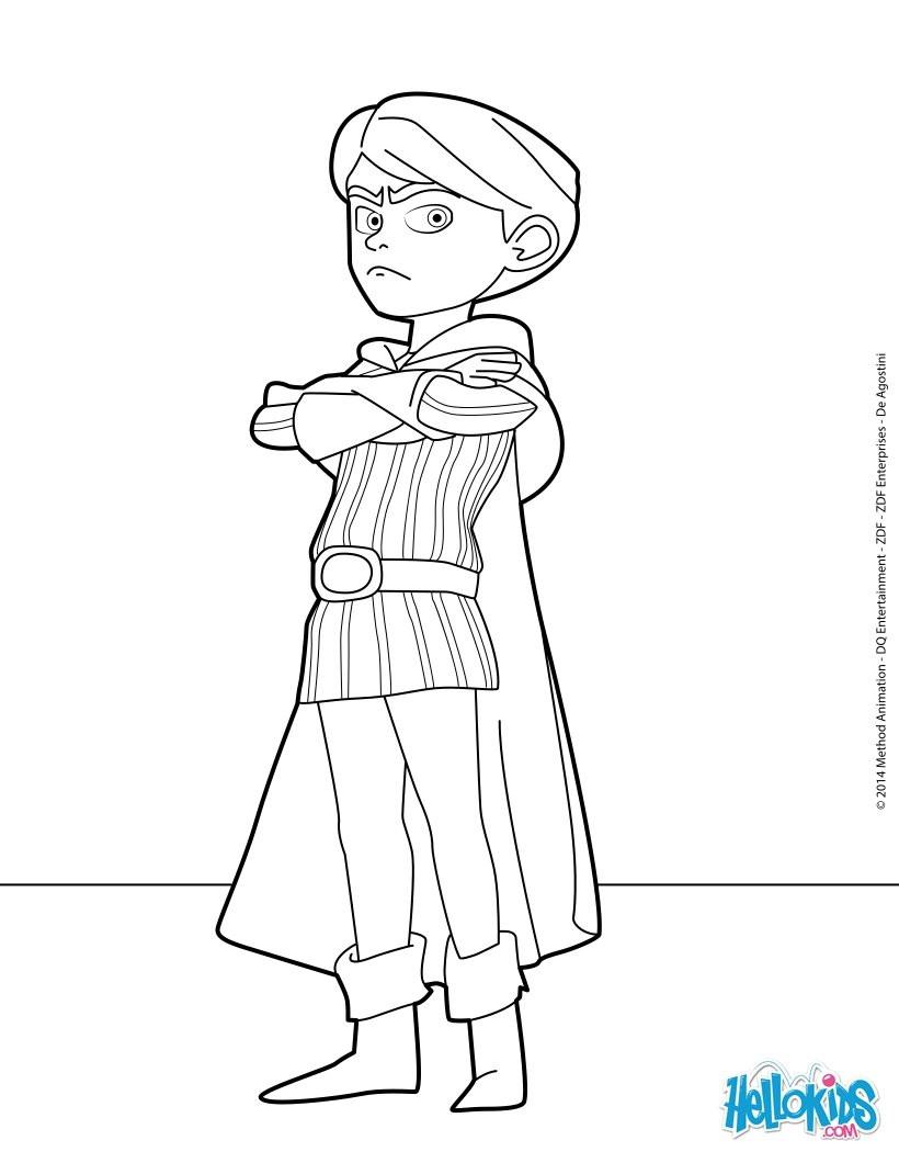 Ausmalbilder Robin Hood  Prinz john zum ausmalen de hellokids