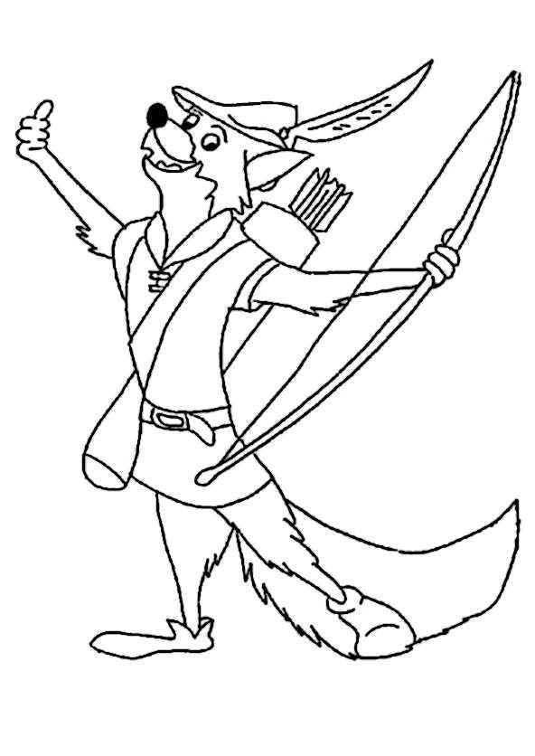 Ausmalbilder Robin Hood  Robin Hood 23