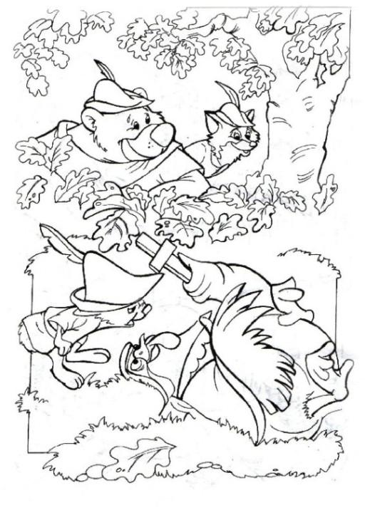Ausmalbilder Robin Hood  AUSMALBILDER ROBIN HOOD KOSTENLOS AUSMALBILDER ZUM