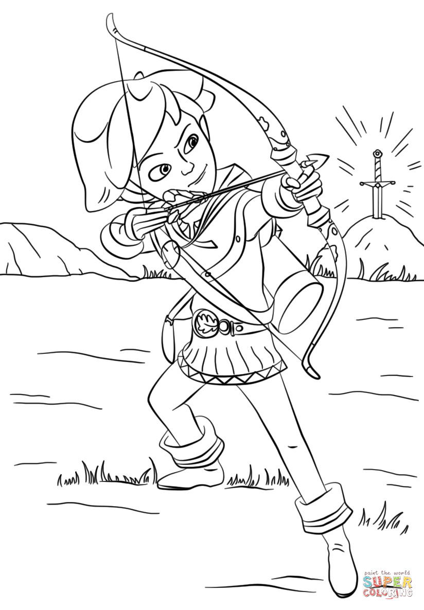 Ausmalbilder Robin Hood  Robin Hood from Mischief in Sherwood coloring page
