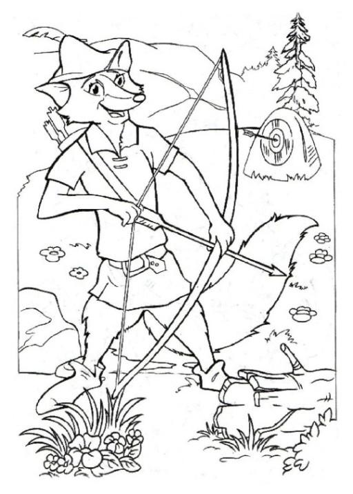 Ausmalbilder Robin Hood  AUSMALBILDER ROBIN HOOD KOSTENLOS Ausmalbilder