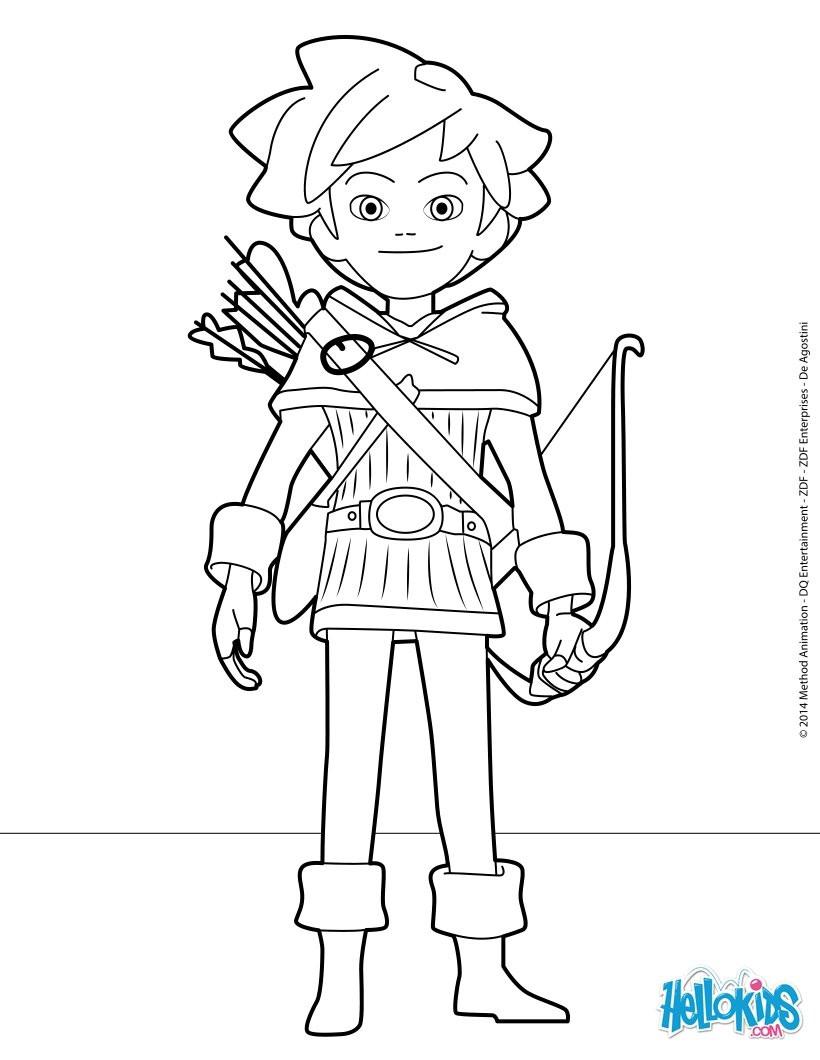 Ausmalbilder Robin Hood  Dibujos para colorear robin hood es hellokids